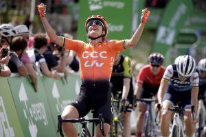 Vos zmaga na 2.stopnji , vodi na OVO Energy Women Tour!