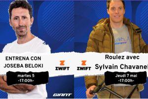 Sorties Zwift avec Joseba Beloki et Sylvain Chavanel