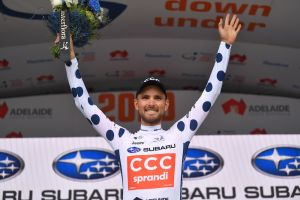 Rosskopf Takes KOM Lead at Tour Down Under!