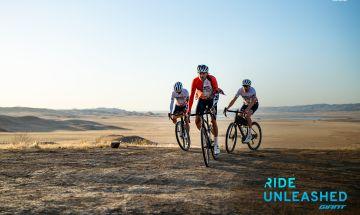 Cyclists on gravel bikes