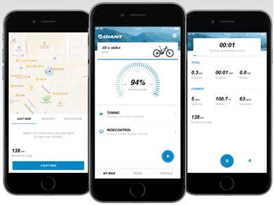RideControl Phone App