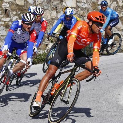 With the help of his teammates, Van Avermaet covered all the key moves in a hilly approach in the final kilometers. Cor Vos photo.