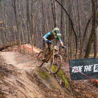 Dickson conquered the Tennessee mud on his Glory Advanced team bike to finish third at Windrock. Daniel Sapp photo.
