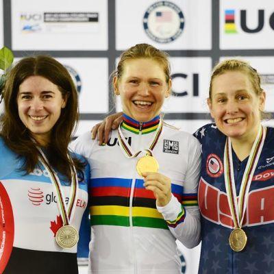 Anna Harkowska na najwyższym miejscu podium w Los Angeles fot. UCI