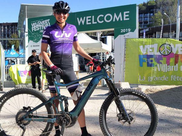 1ère place pour Sandrine Koenig lors de la Cross Mountain Electrique a...
