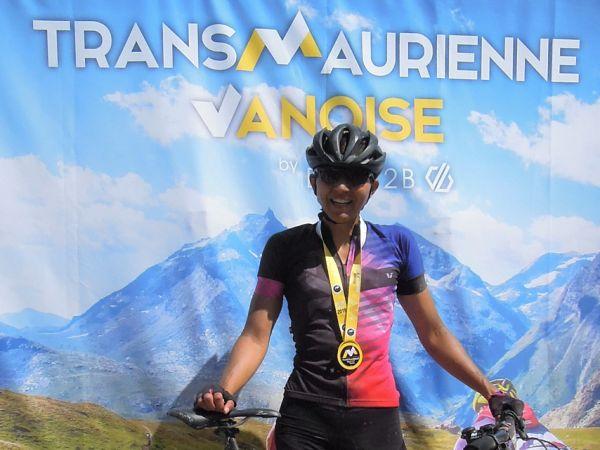 Défi de la Transmaurienne Vanoise pour Sandrine Koenig - Mode Compétition 9000 musculaire