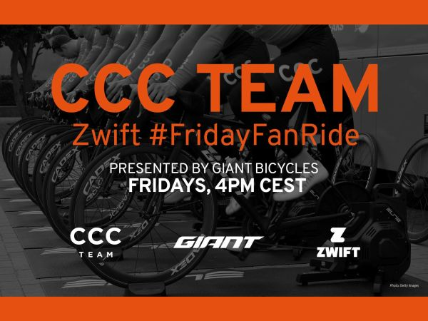 Join CCC Team for Weekly Zwift Ride...
