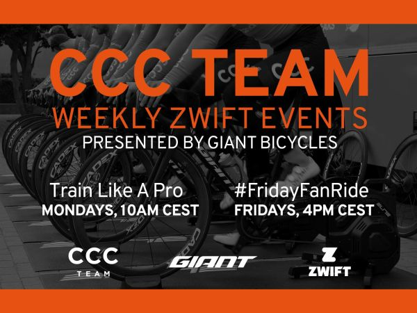 Weekly Zwift Rides with CCC Team!
