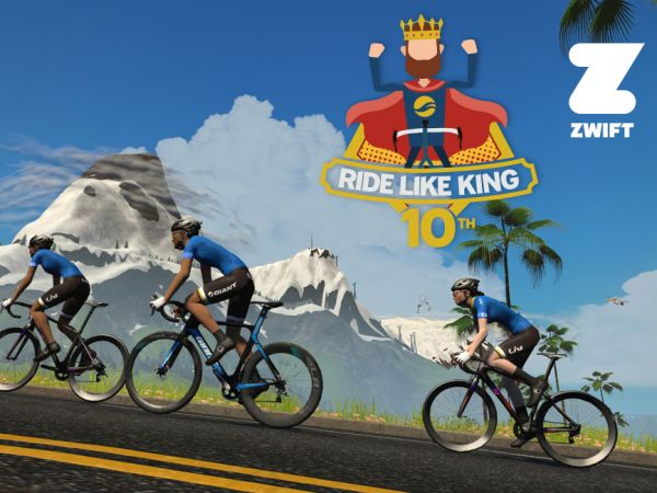 Riders Around the World Invited to Ride Like King on Zwift!