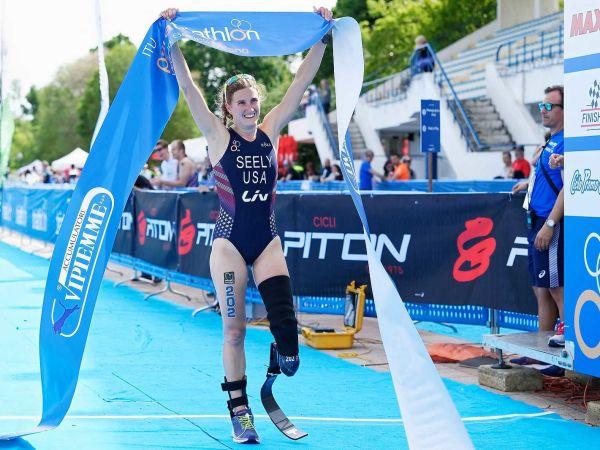 Allysa Seely remporte le Paratriathlon de Milan !