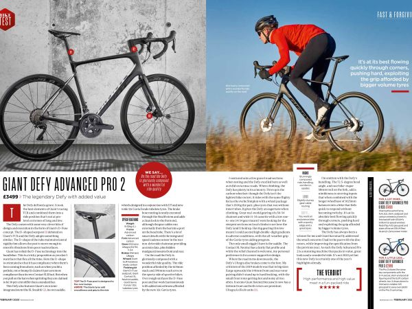 Cycling Plus Award Defy Advanced Pro 2 5 Stars And Name It Grouptest W...
