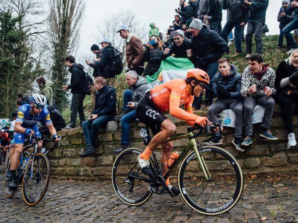 Van Avermaet Sprints to Omloop Het Nieuwsblad Podium!