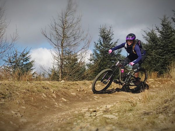 Learning To Corner On A Mountain Bike