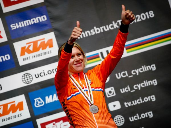 Ellen van Dijk Scores Bronze at ITT Worlds!