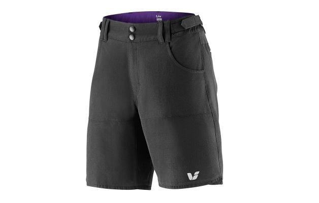 Womens Mountain Biking Baggy Shorts Feature Removable Liner And