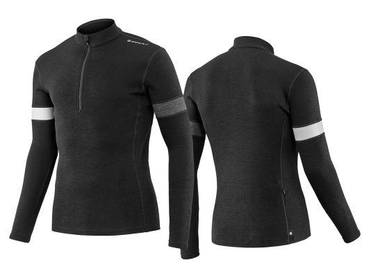 8df03a747 Mens performance merino wool long sleeve cycling jersey
