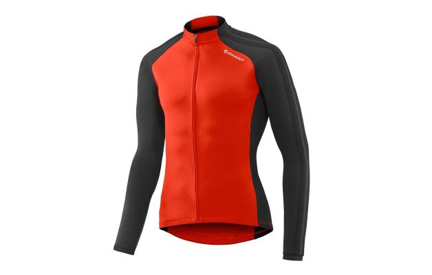 b73e54e8a Mens performance thermal long sleeve cycling jersey in bue black ...