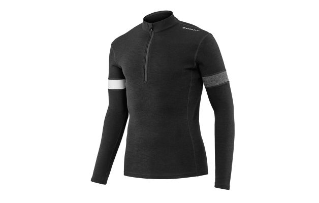 762426fe0 Mens performance merino wool long sleeve cycling jersey