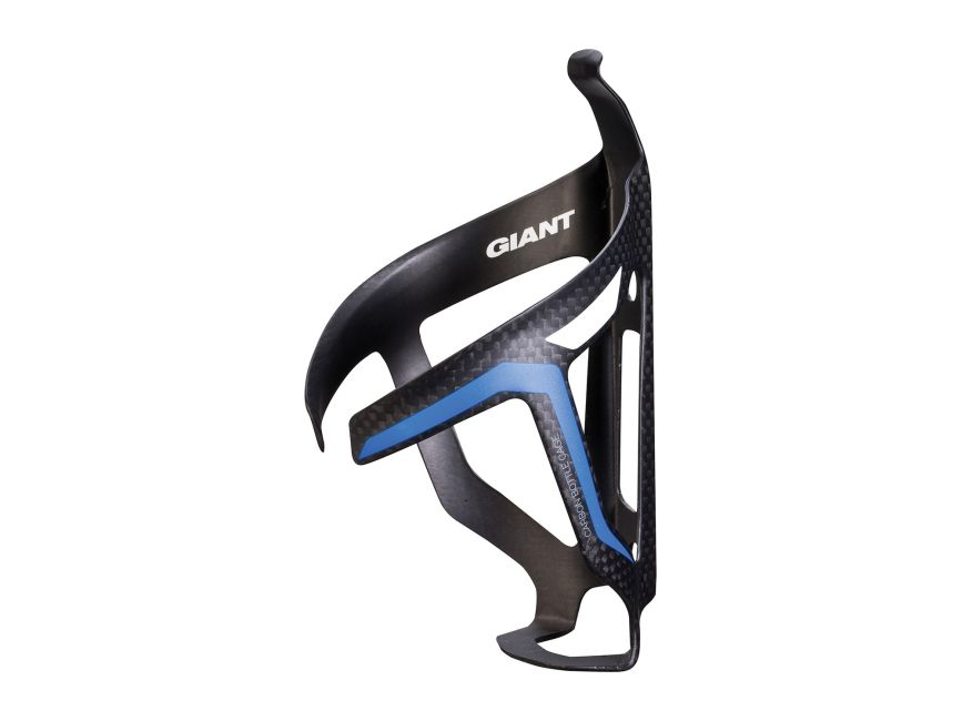 GIANT AIRWAY CARBON BOTTLE CAGE MATTE BLACK W//BLUE/&WHITE