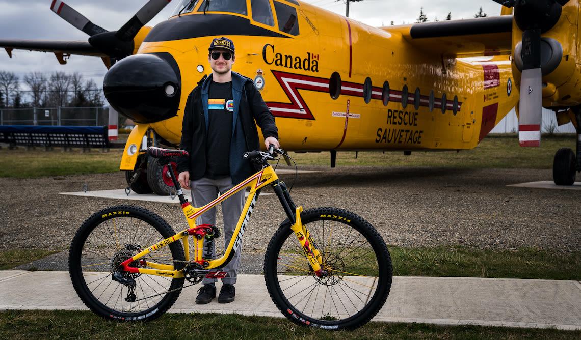 Giant freerider Reece Wallace mountain biking in British Columbia, Canada