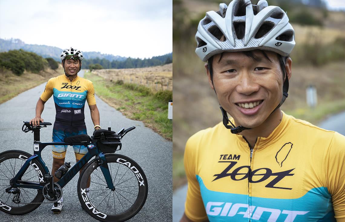 Giant-sponsored triathlete Yu Hsiao