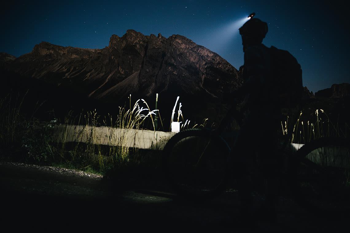 Riding at dusk
