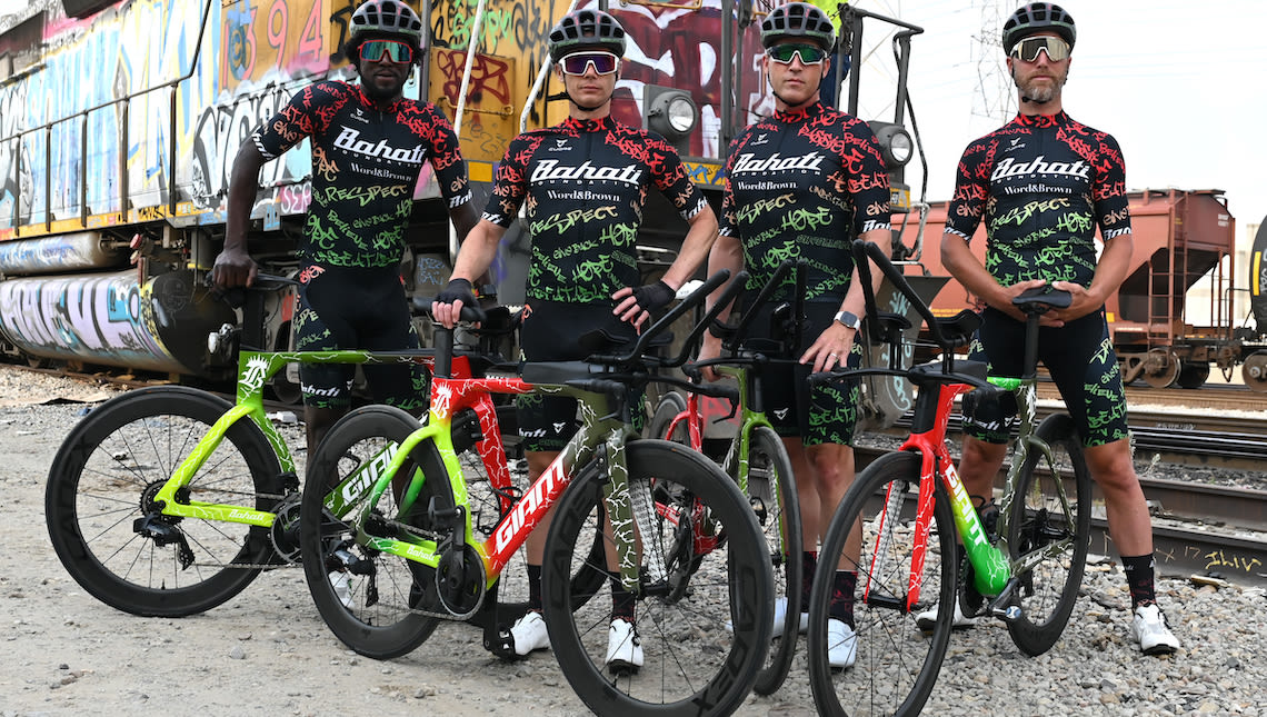 Team Thin Energy riders Rahsaan Bahati, James Cowan, Alex Isaly and Rudy Napolitano (left to right)