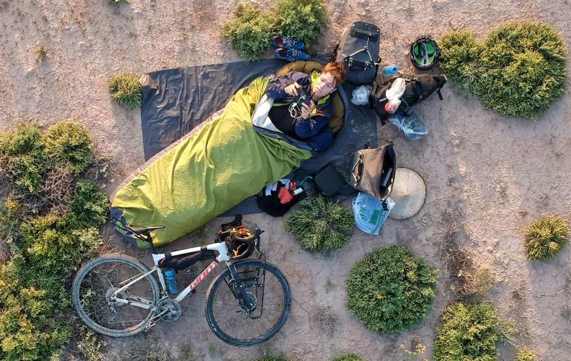 Giant ambassador Josh Reid bikepacking in Asia with his Giant Revolt