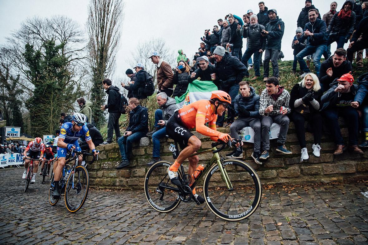 Greg Van Avermaert riding for CCC team