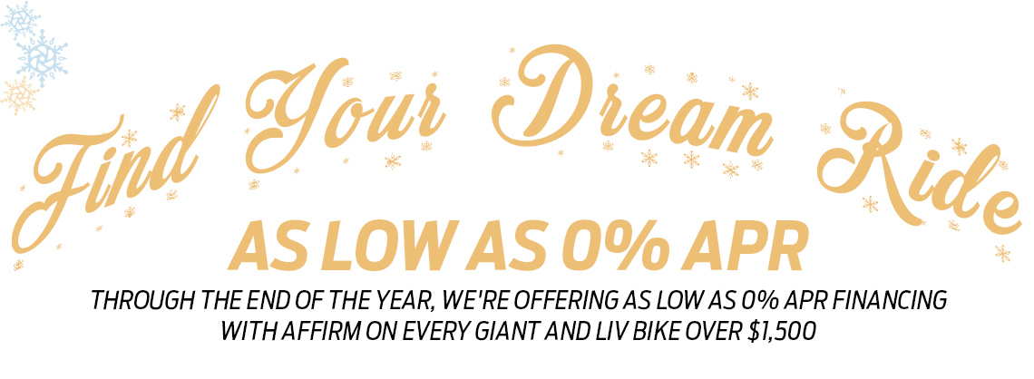 0% APR Special Financing on Giant Bicycles